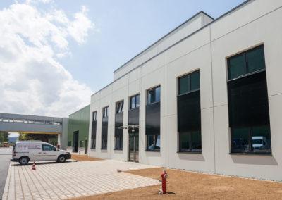 Neues Bürogebäude Cosmolux International CAN Zone Industrielle Echternach
